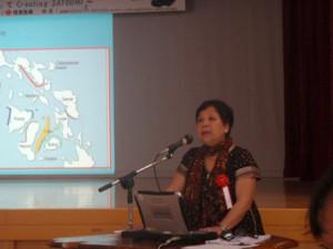 フィリピンのシンシア・ザヤスさん 現在は漁に使われている垣はほとんど無いが、海から恵みを得た記憶が、沿岸部の開発を抑止しているのではないかと言う